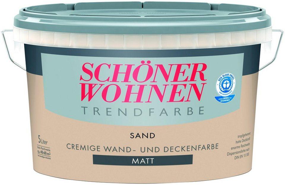 Trendfarbe »sand«, matt in sand