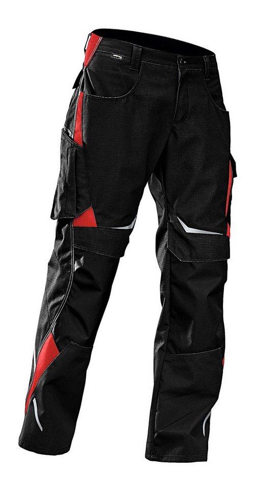 Arbeitshose »Pulsschlag« in rot/schwarz