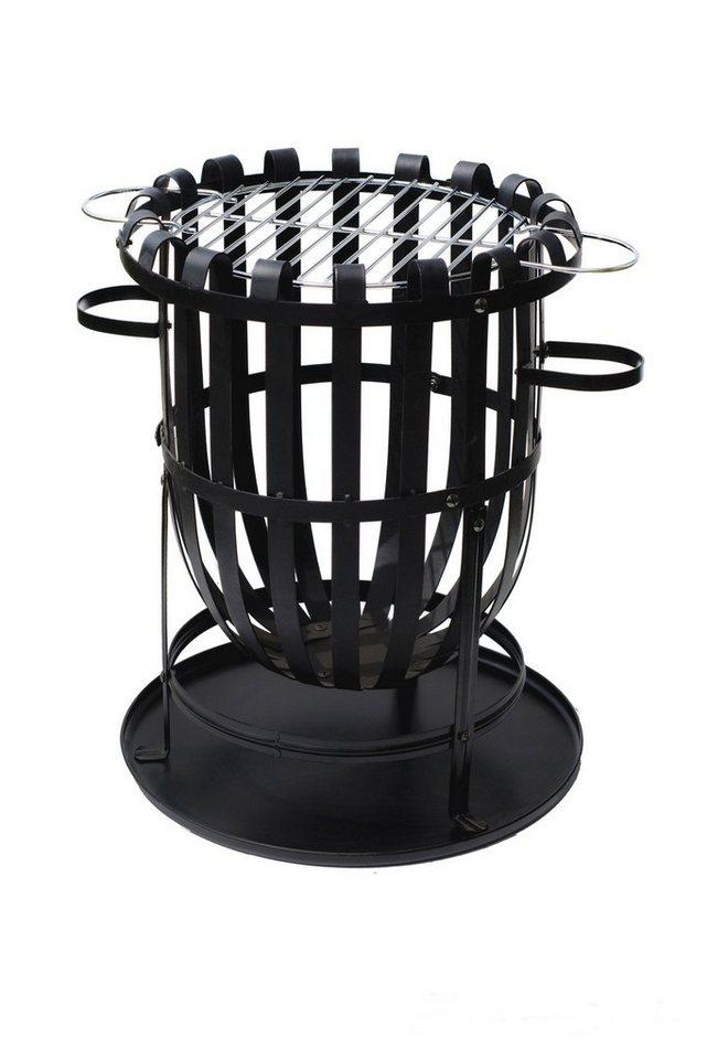 Feuerkorb »Barcelona«, Ø/H: 40/46 cm in schwarz