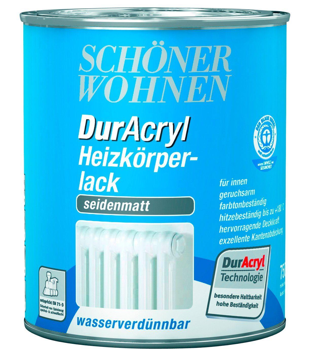 Schöner Wohnen Farbe DurAcryl Heizkörperlack, seidenmatt