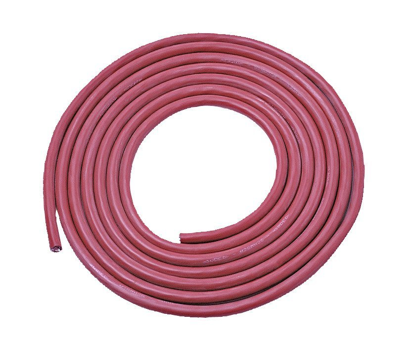 Silikonkabel , 3 m, 5-adrig, Ø: 1,5 mm in rot