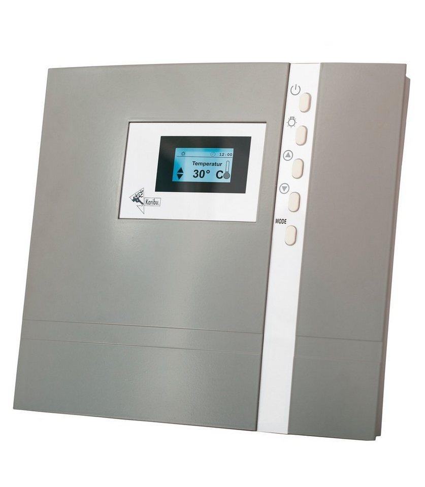 Sauna-Steuergerät »Premium Finnisch«, für Finnische Saunaöfen,extern, 9 kW in grau