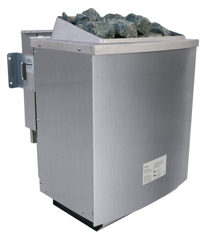 Saunaofen »9-KW-Bio-Kombiofen«, mit ext. Steuerung »Premium Bio« in silberfarben