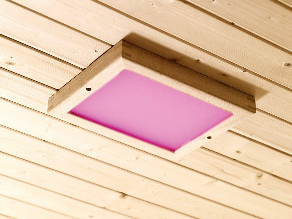 Farblichtanwendung »Premium LED«, B/T/H: 24/32/3,8 cm in natur