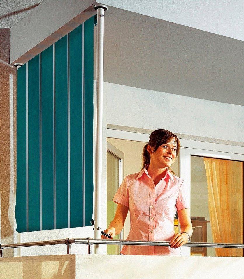 Balkonsichtschutz »Polyacryl, grün/weiß« in 2 Breiten in grün