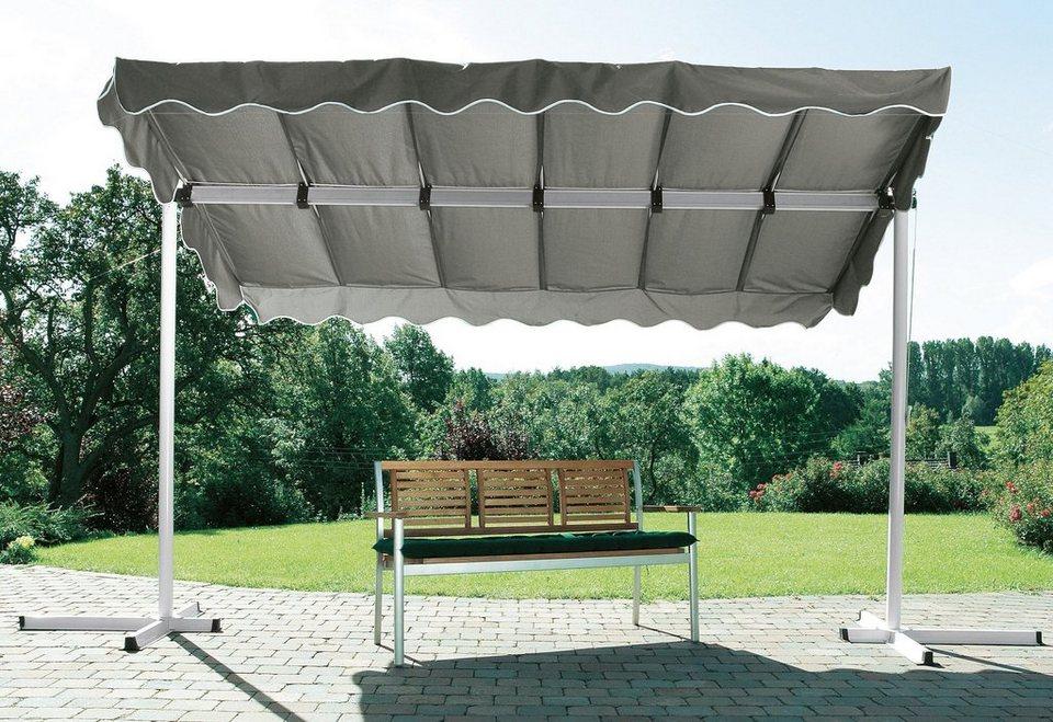 Terrassendach/ Standmarkise »Dubai, grau« 375x250cm in grau