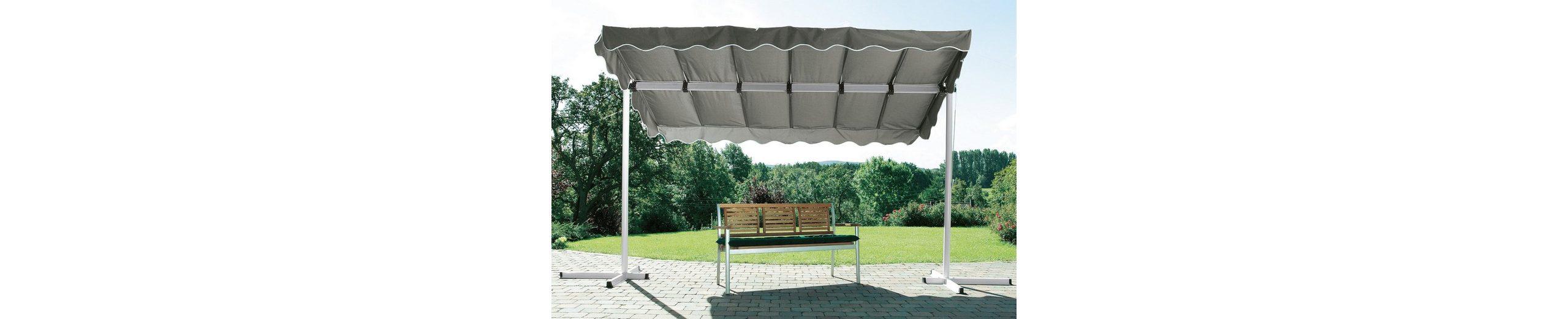 Terrassendach/ Standmarkise »Dubai, grau« 375x250cm