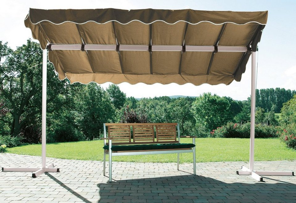 Terrassendach/ Standmarkise »Dubai, taupe« 375x250cm in braun
