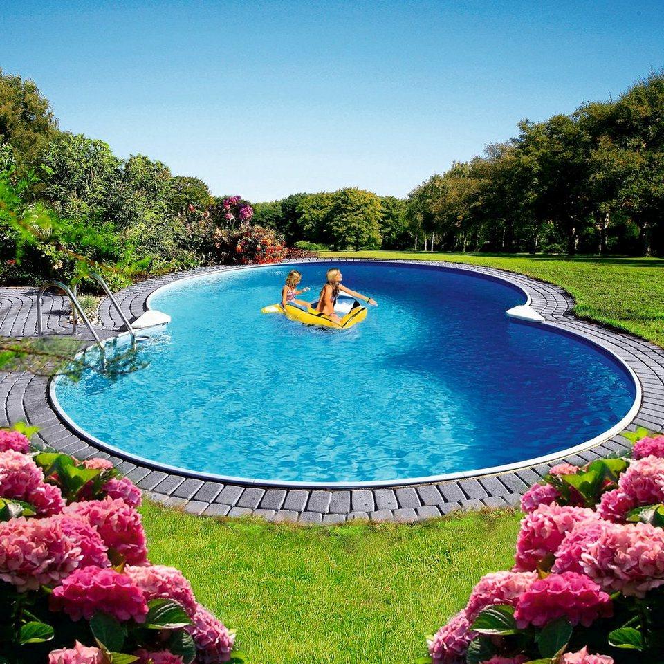 Clear pool achtformpool premium mallorca kaufen otto for Pool innenfolie