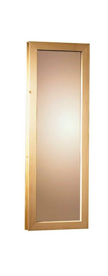 Saunafenster, für 40 mm Sauna, BxH: 42x185 cm in natur