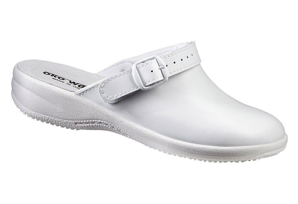 Pantolette in weiß