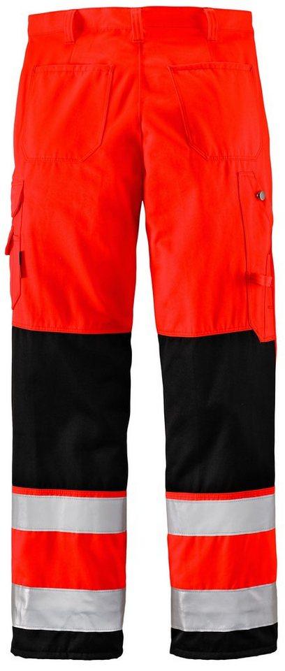 Warnschutz-Hose K2 »Essential« in rot/schwarz