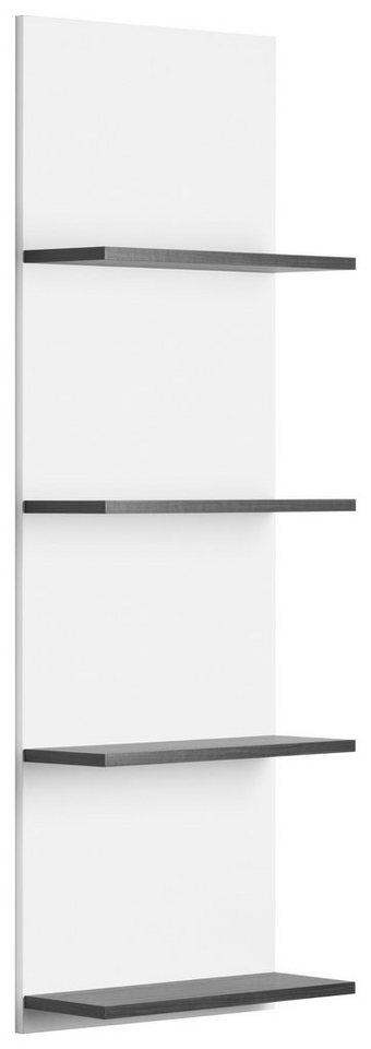 Regal, Kesper, »Lago« in weiß-graphit Struktur
