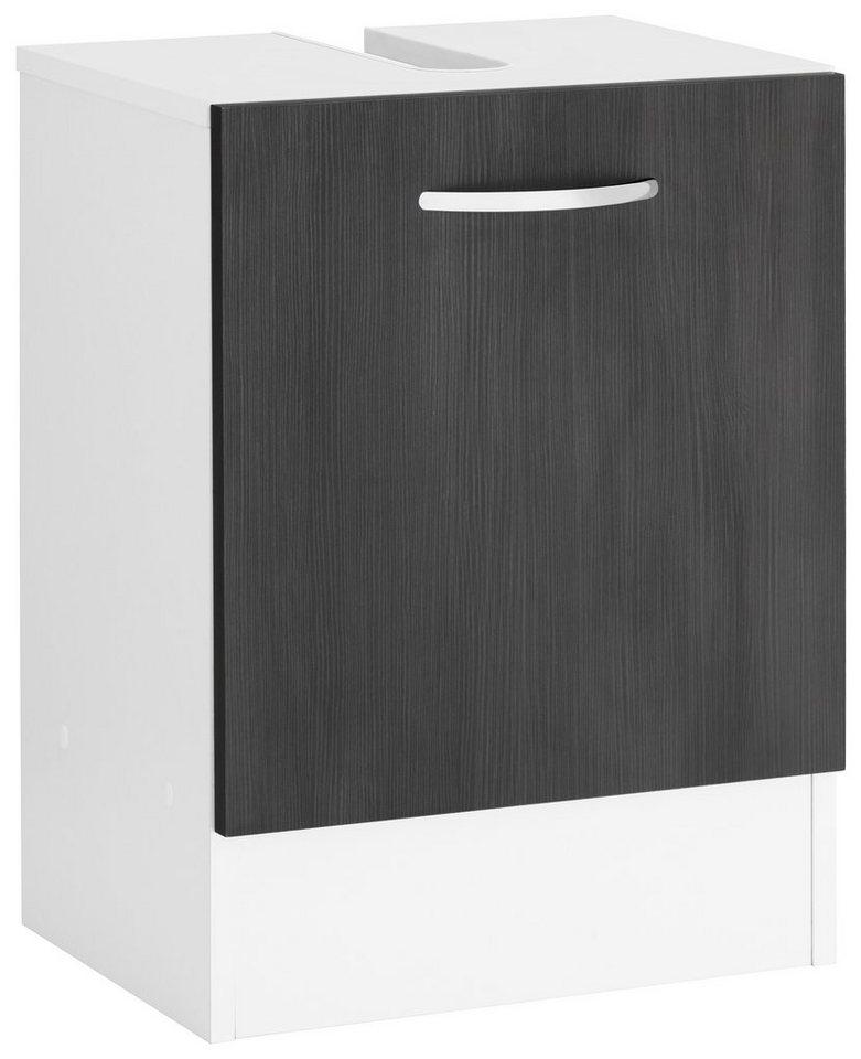 Waschbeckenunterschrank, Kesper, »Lago« in weiß-graphit Struktur
