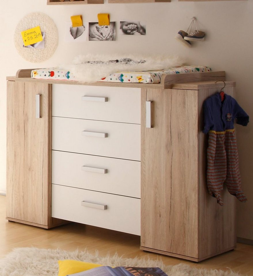 wickelkommode twin in sanremo hell wei matt otto. Black Bedroom Furniture Sets. Home Design Ideas