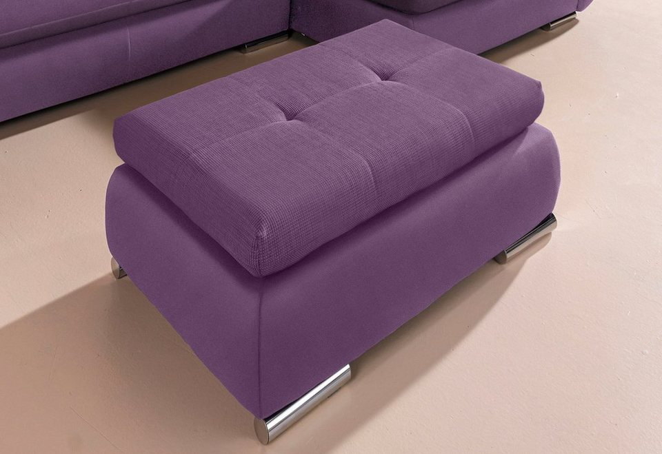 Hocker in aubergine