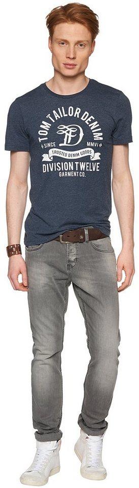 TOM TAILOR DENIM Jeans »Aedan slim grey stretch« in grey denim