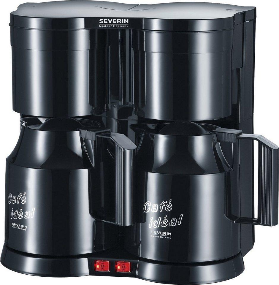 Severin Duo-Kaffeeautomat mit 2 Thermokannen KA 5828, schwarz in schwarz