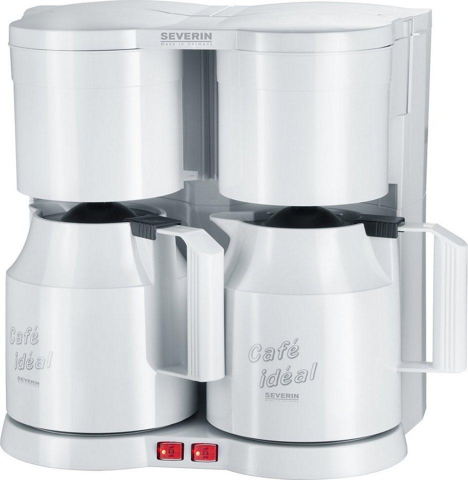 severin filterkaffeemaschine duo kaffeeautomat ka 5827 1 2l kaffeekanne papierfilter 1x4 mit. Black Bedroom Furniture Sets. Home Design Ideas