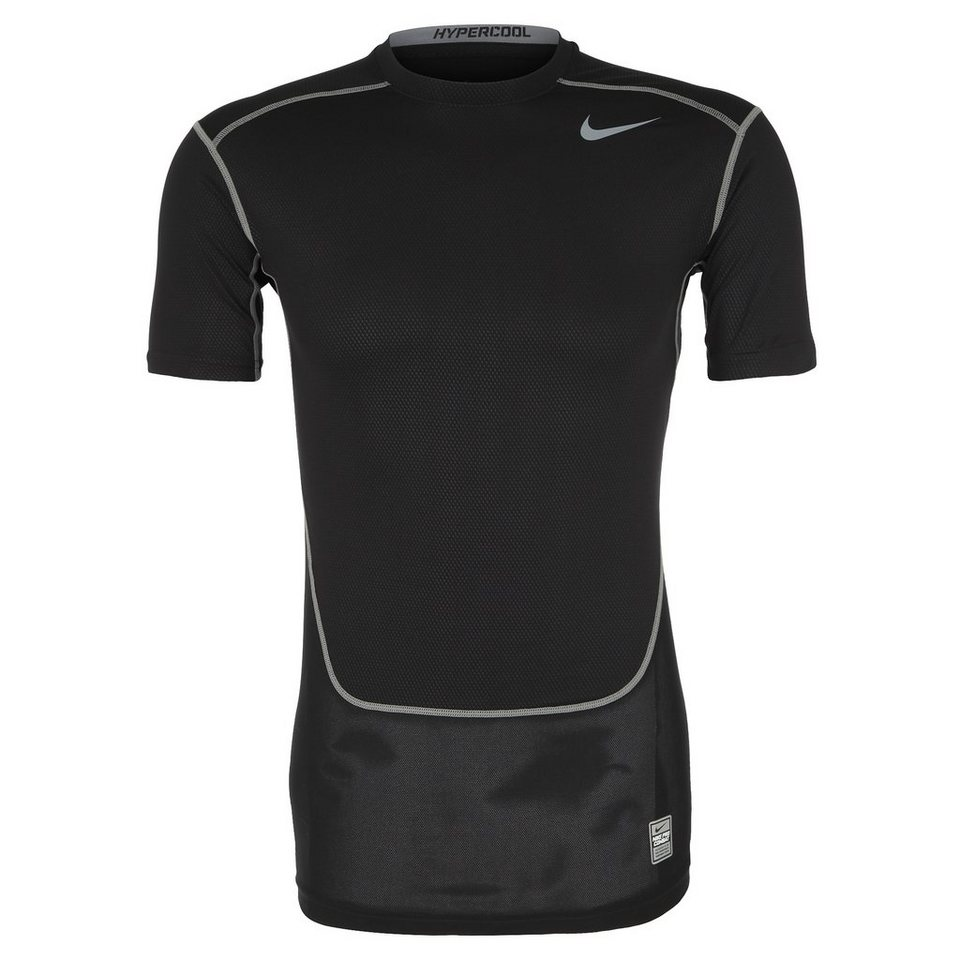 NIKE Pro Combat Hypercool Funktionsshirt Herren in schwarz / grau