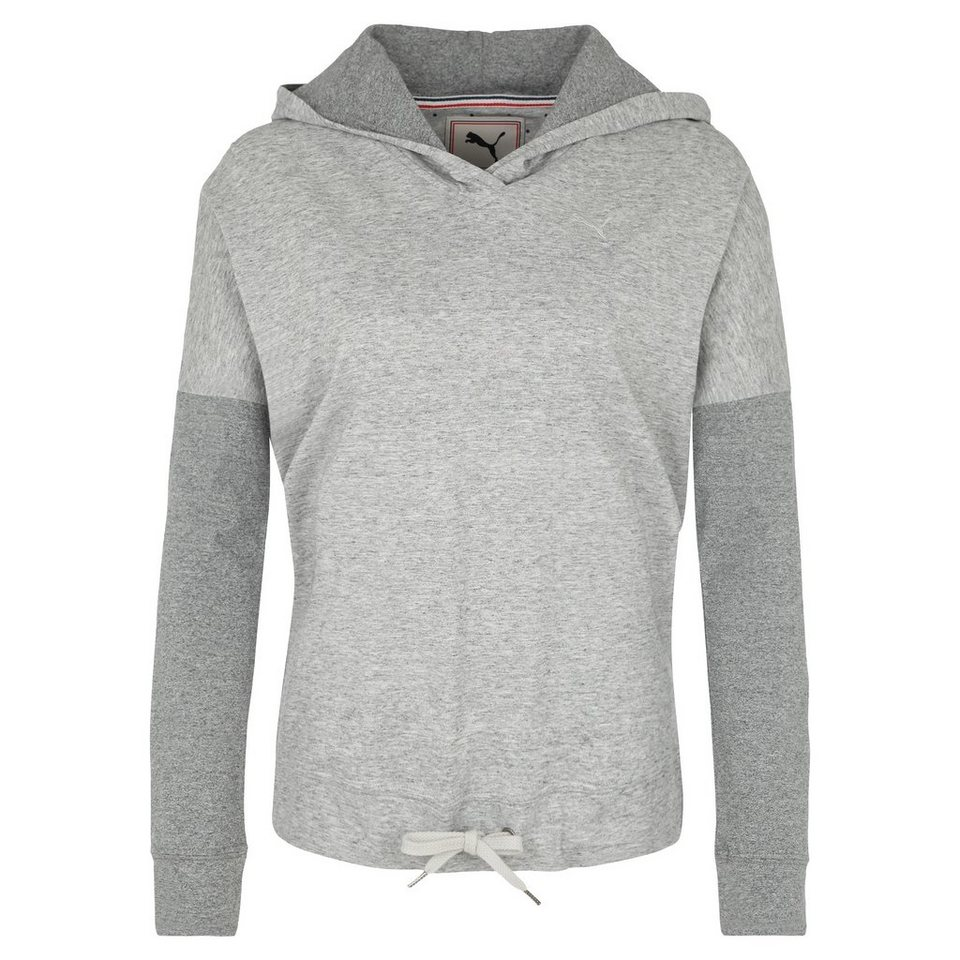 PUMA Lightweight Cover Up Trainingskapuzenpullover Damen in hellgrau / grau