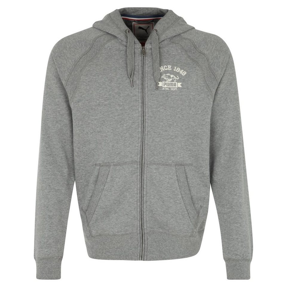PUMA Style Athletics Kapuzenjacke Herren in grau
