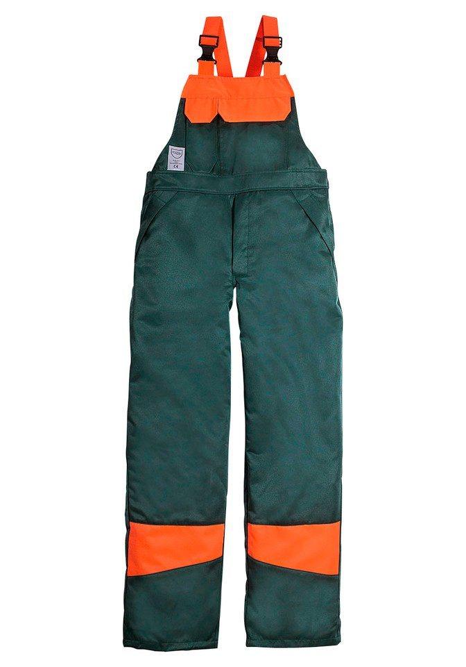 Forstlatzhose in grün/orange