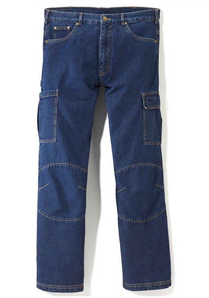 Cargo-Arbeitsjeans 2er Set in jeansblau