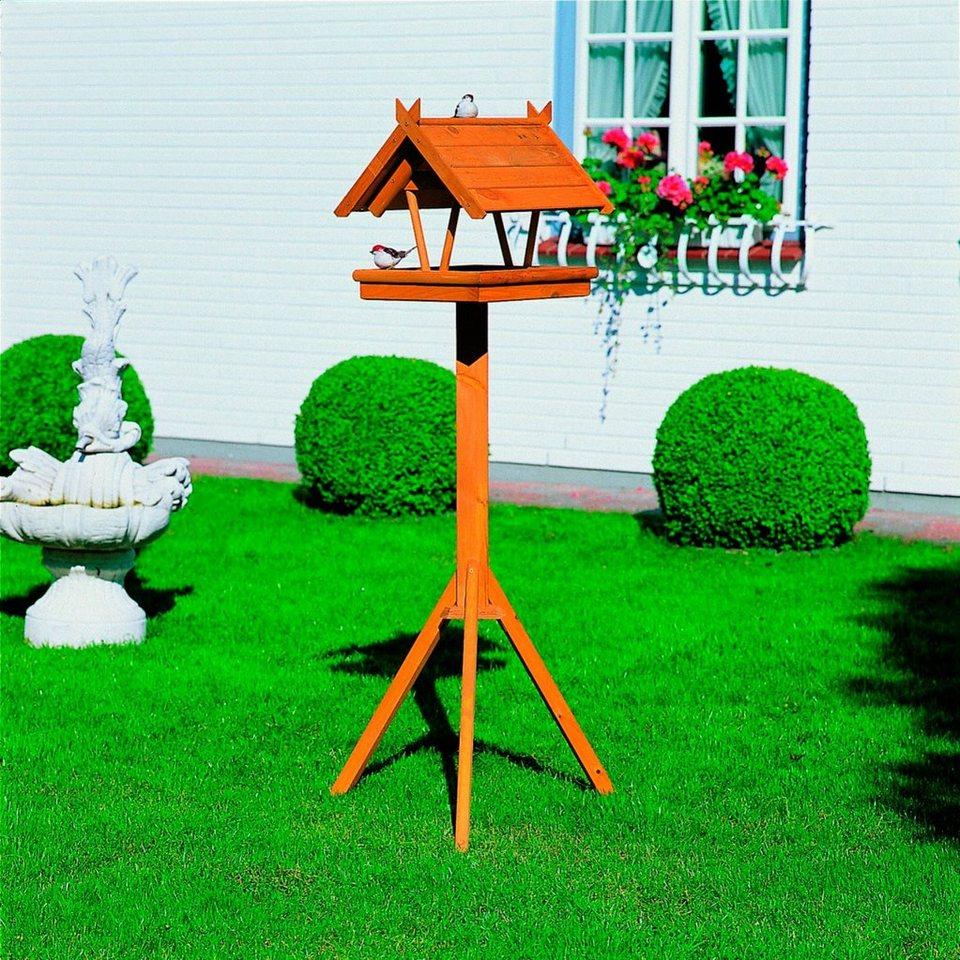 Set: Vogelhaus »Rhön« inkl. Fußkreuzständer in braun