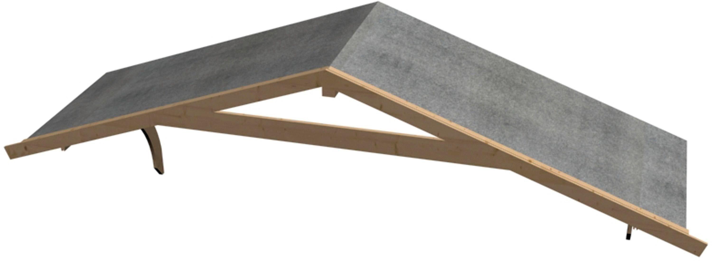 KARIBU Vordachverlängerung , BxT: 400x150 cm
