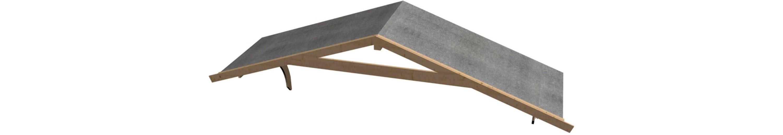 Vordachverlängerung, BxT:400x150 cm