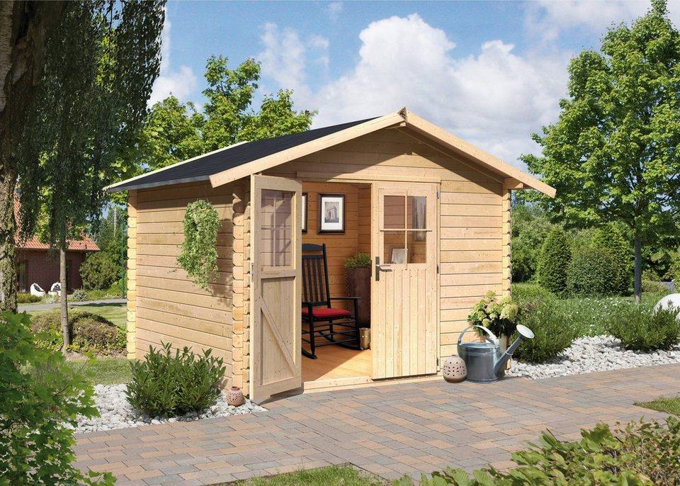 Karibu Komplett-Set: Gartenhaus »Altona 4«, BxT: 175x175 cm in natur