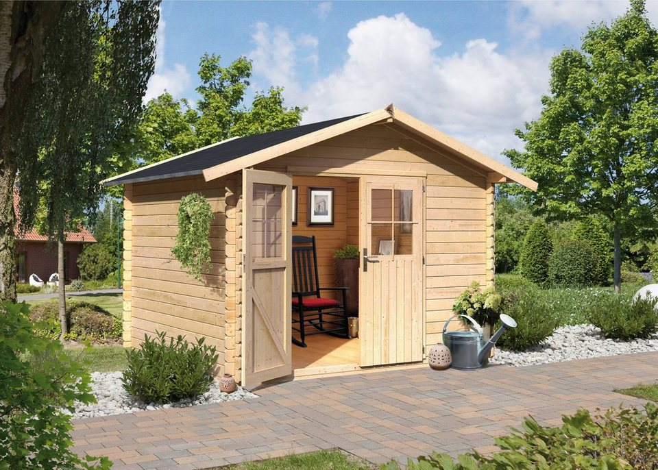 Komplett-Set: Gartenhaus »Altona 4«, BxT: 175x175 cm in natur