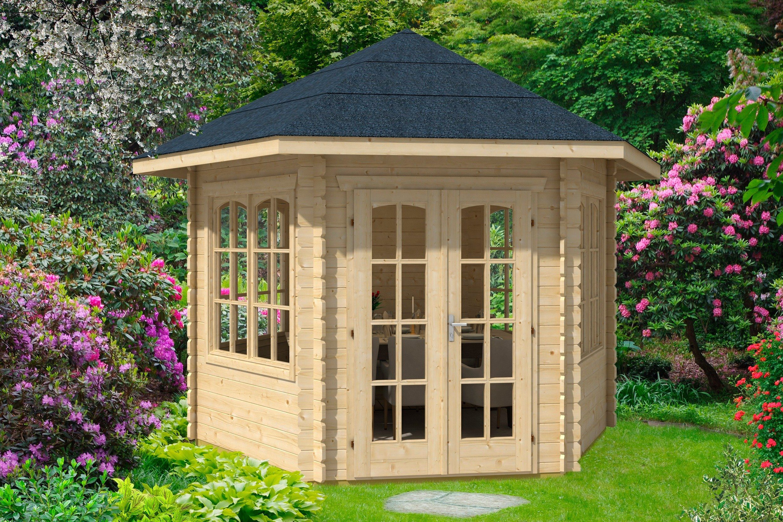 Skanholz Holzpavillon »Madeira 3«, BxT: 350x303 cm