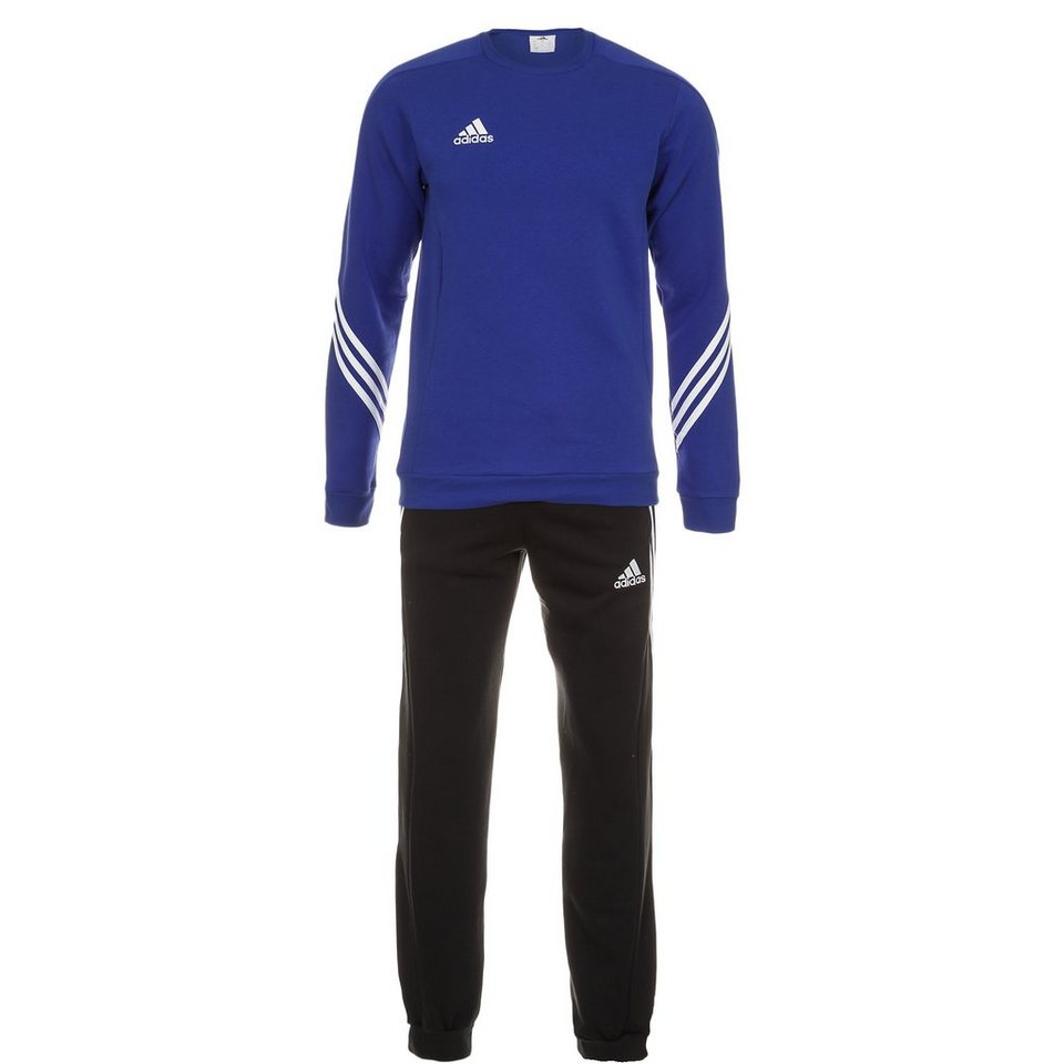 adidas Performance Set: Sereno 14 Trainingsanzug Herren (Packung, 2 tlg.) in blau / schwarz