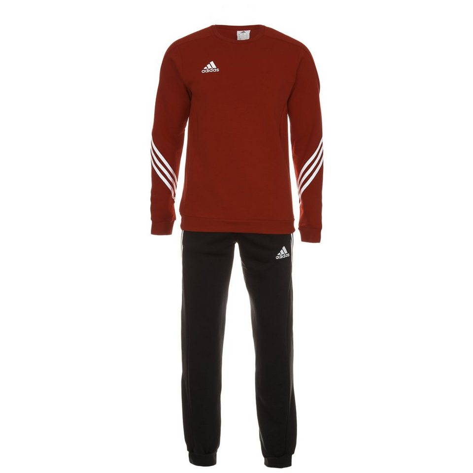 adidas Performance Set: Sereno 14 Trainingsanzug Herren (Packung, 2 tlg.) in rot / schwarz