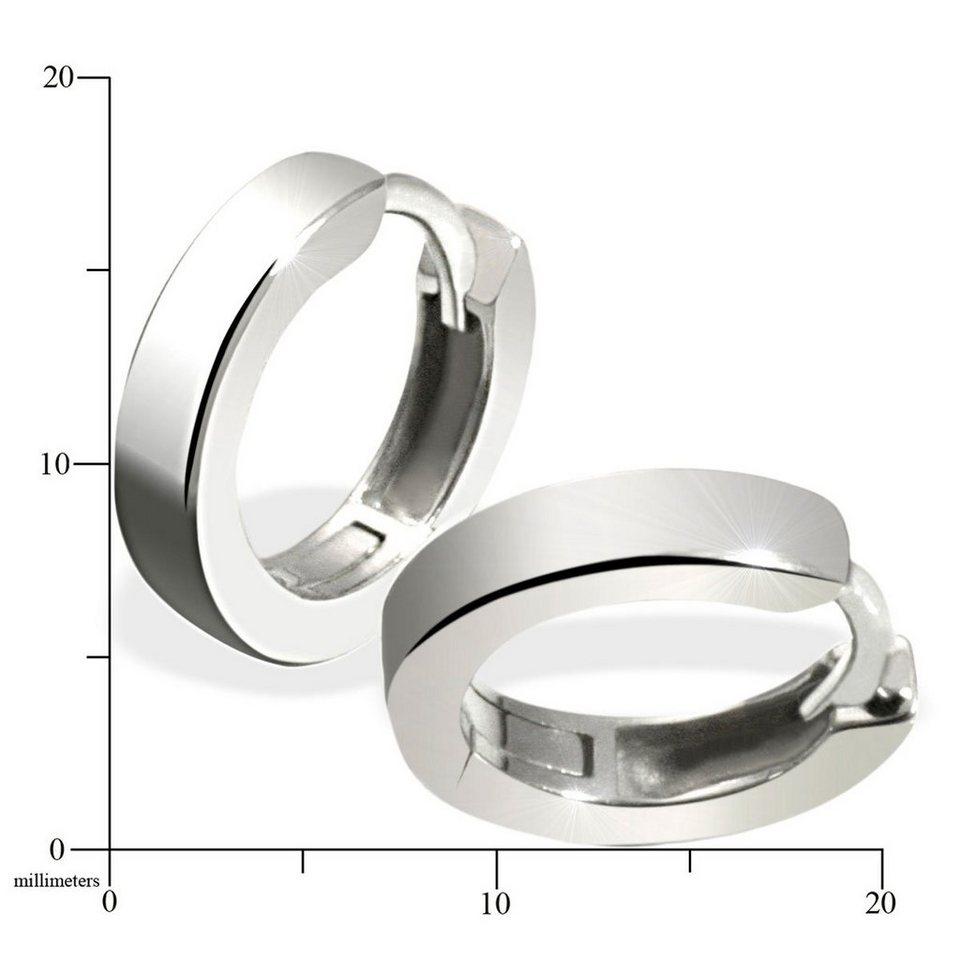 goldmaid Paar Ohrringe Silber 925/- Creolen hochglanzpoliert in silberfarben