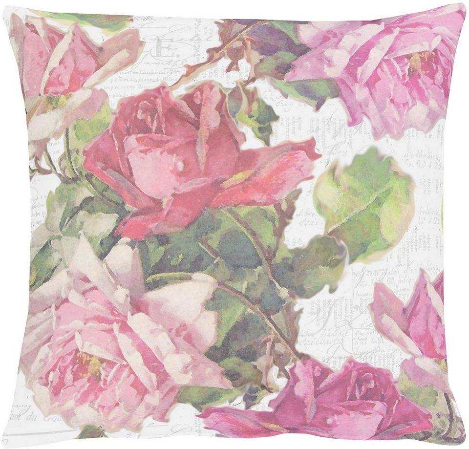 Kissen, Apelt, »3039 Rosen« (1 Stück) in rosetöne