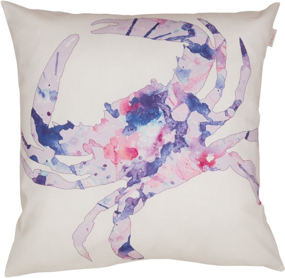 Kissenhülle, Esprit, »Coastline Crab« (1 Stück) in lilac