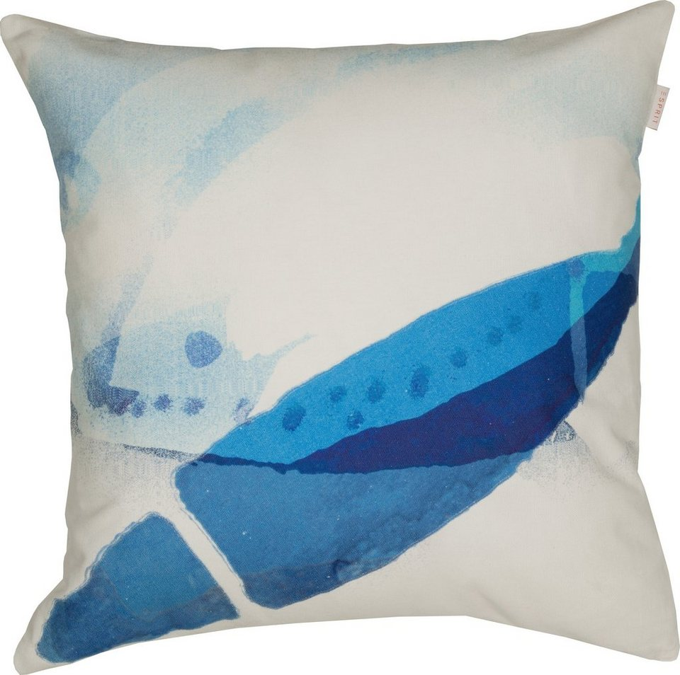Kissenhülle, Esprit, »Coastline Fish« (1 Stück) in blue
