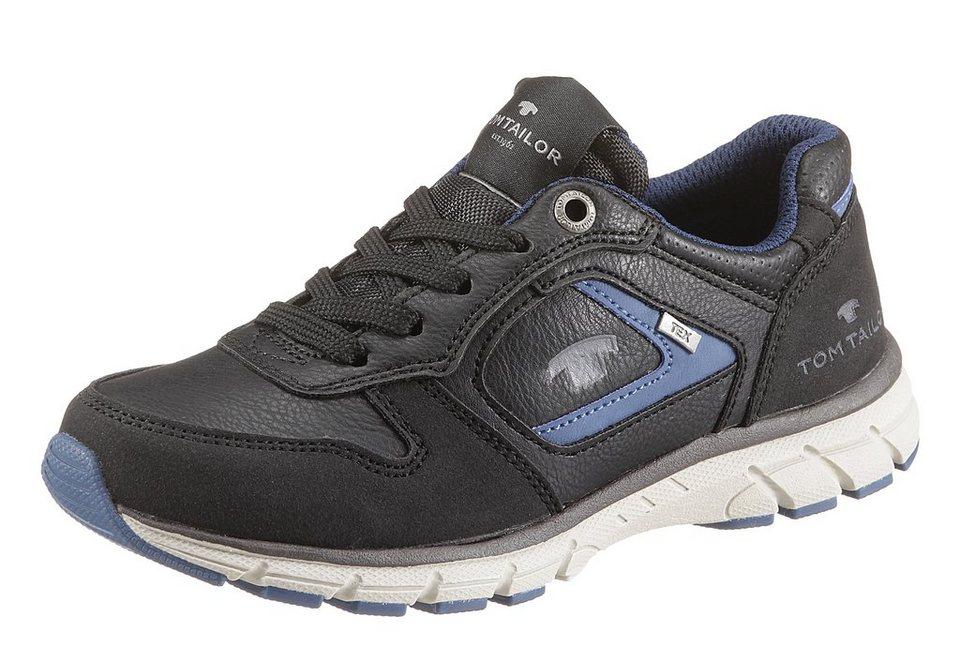Tom Tailor Sneaker mit Tex Ausstattung in schwarz-blau
