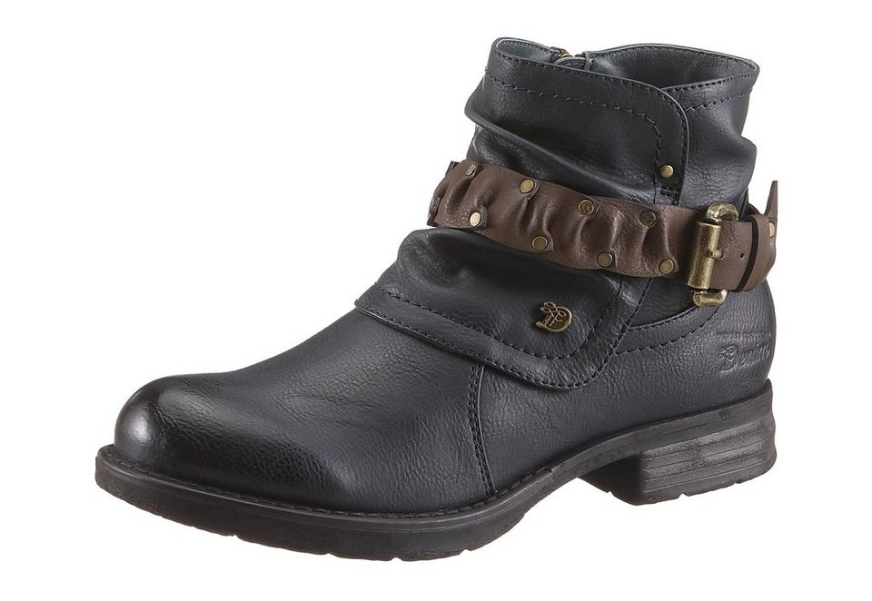 Tom Tailor Stiefelette im Used-Look in navy