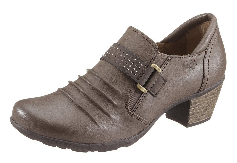 Hush Puppies Hochfrontpumps mit Glitzersteinchen in taupe