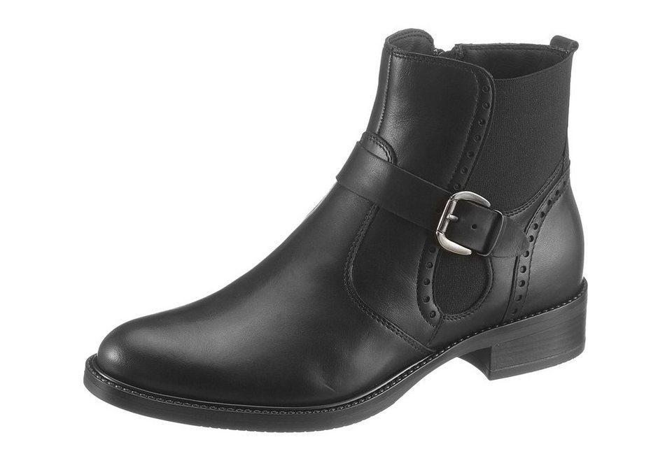 Tamaris Chelseaboots in schwarz