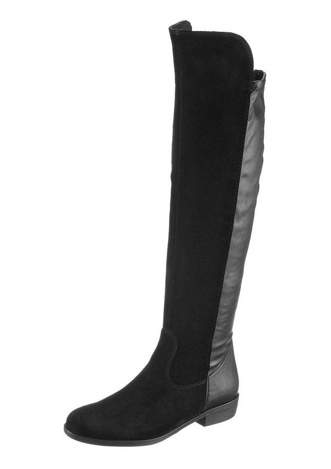 Tamaris Overknee-Stiefel in schwarz
