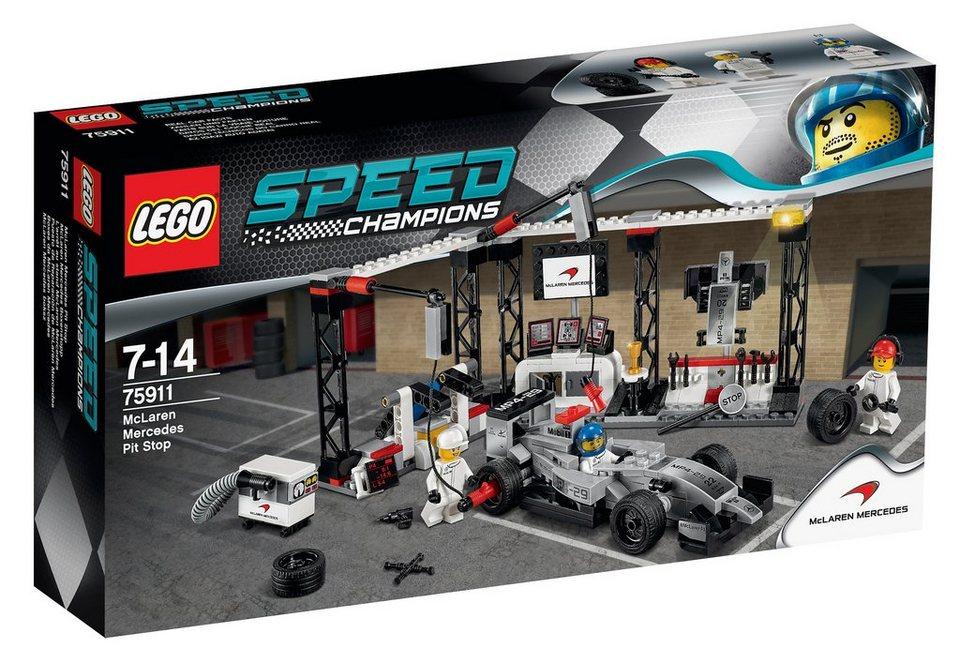 McLaren Mercedes Boxenstopp, (75911), »LEGO® Speed Champions«, LEGO®