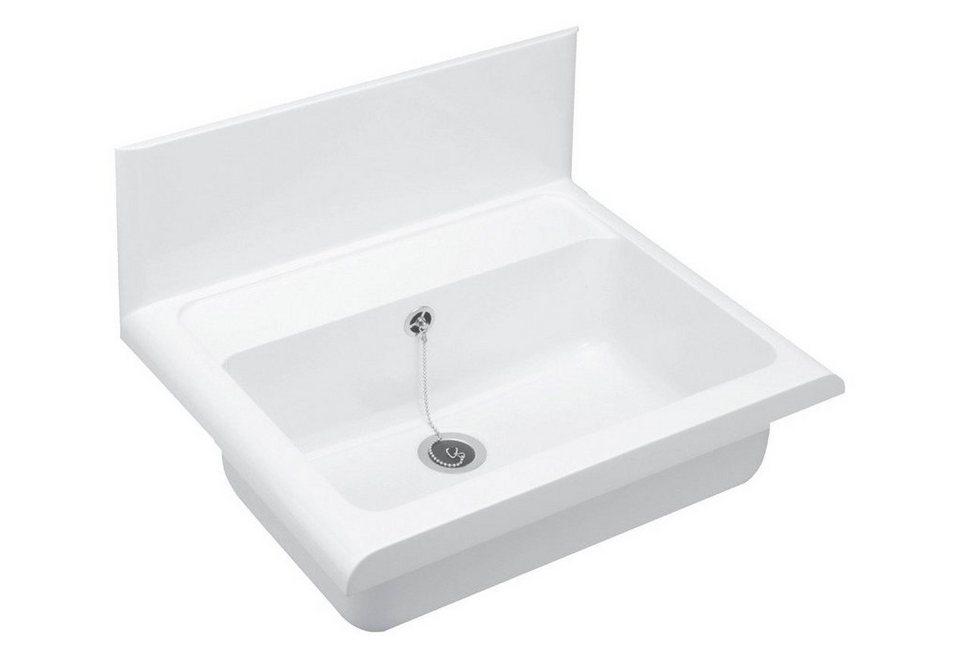 Kunststoff Wandausgussbecken / Waschbecken 49,5 cm