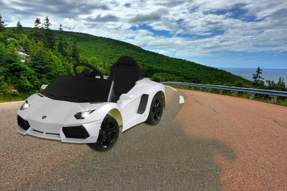 JAMARA KIDS Elektroauto »Ride-On Lamborghini Aventador«, weiß, inkl. Fernsteuerung in weiß