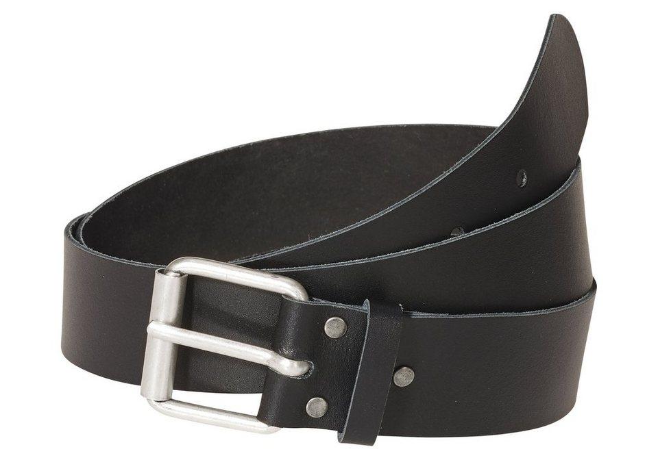 sheego Ledergürtel in XL-Länge in schwarz