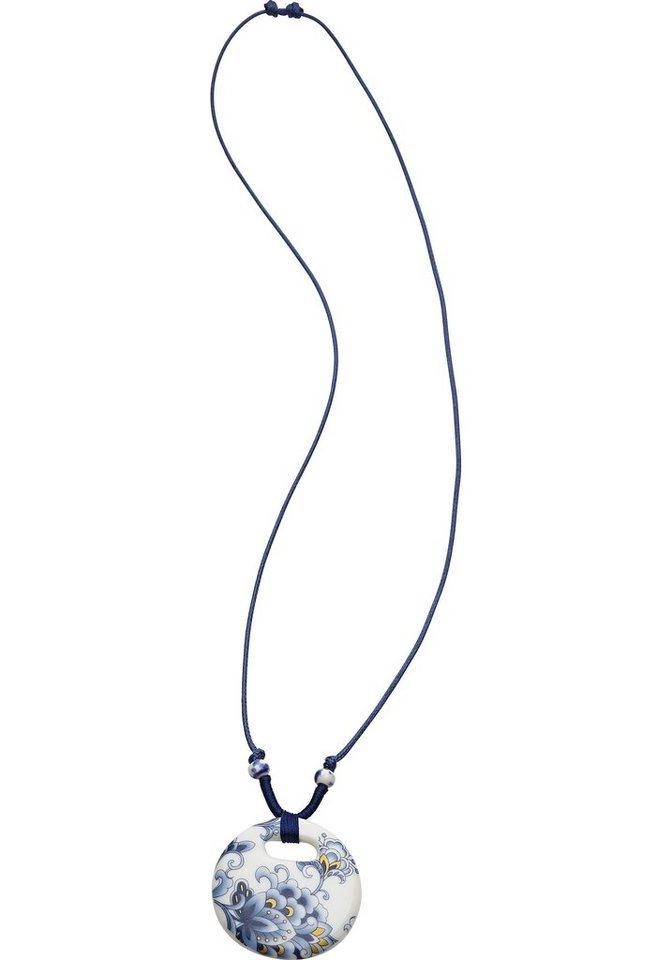sheego Kette im Asia-Look in blau-weiß